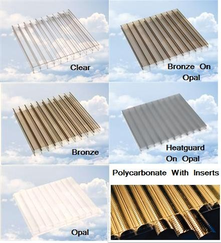 Standard Rectangles Polycarbonate Sheets 32mm Multiwall