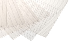 Cut to Size Polycarbonate Rectangles 6mm 'Twin Wall' clear