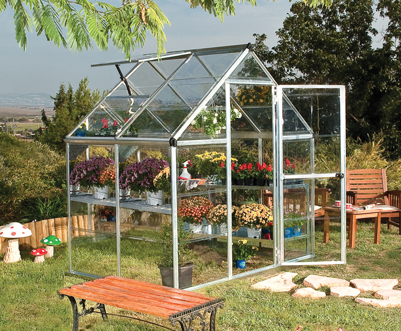 The Palram Greenhouse Range The Octave Silverline Greenhouse