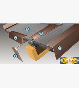 Timber support roof kits complete roof kit 2 metre long for Velux cladding kit