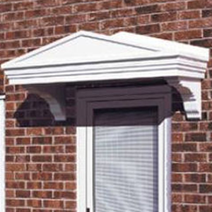 Elegant Victorian style door canopy in a smooth finish incorporating fully moulded brackets. & Door Canopies - LIV Supplies | Carisbrooke | Cheltenham | Berkley