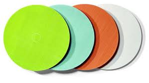Coloured Frosted Acrylic Discs/Circles