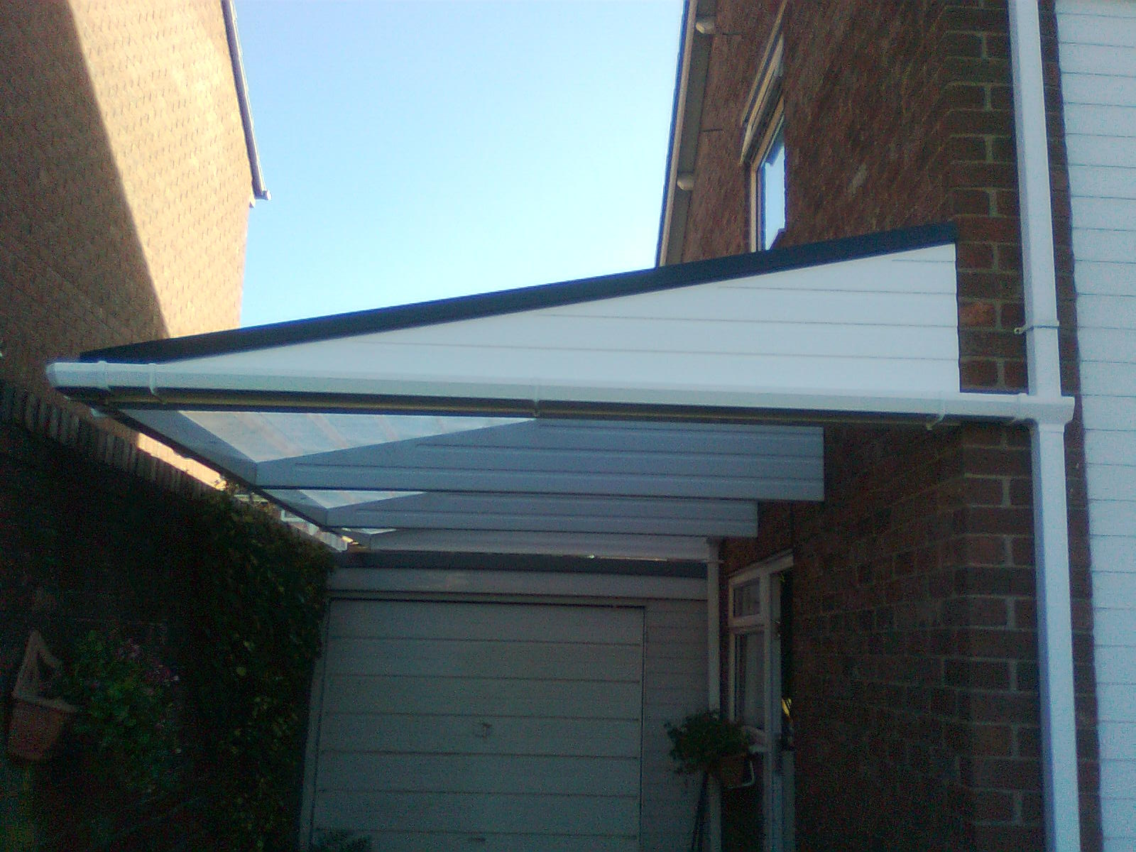 Cantilever canopy for Velux cladding kit
