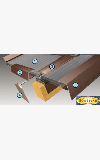 Pvc glazing bar f edge strip white timber support bars for Velux cladding kit