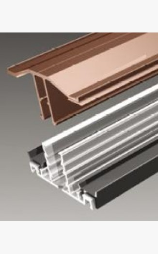 10mm-35mm Edge Barfor Polycarbonate /& Glass Aluminium F Section Glazing Bar
