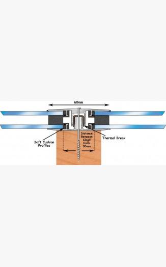 Horizontal Glazing Bar 16 24mm 3 Metre Capex 40 Range
