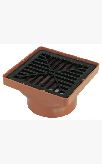 Square Hopper Inc Grid Underground Drainage System 110mm