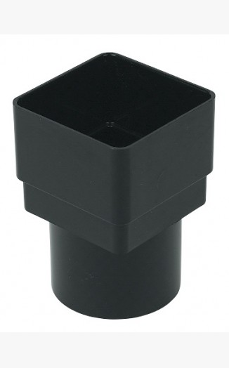 Sq/Rd Downpipe Adapter Cast Iron