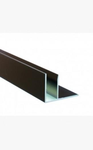 Brown Aluminium F Section Sunwood Snap Down Rafter