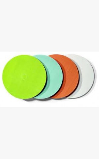 Yellow Frosted Acrylic Discs / Circles