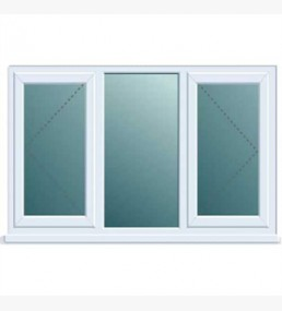 Pvcu Double Side Ctr Fixed Casement Window