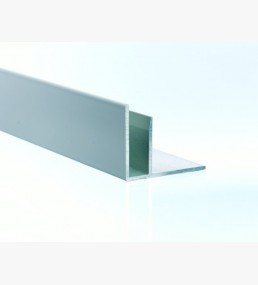 White Aluminium F Section