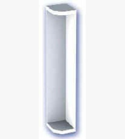 500mm Fascia Corner White