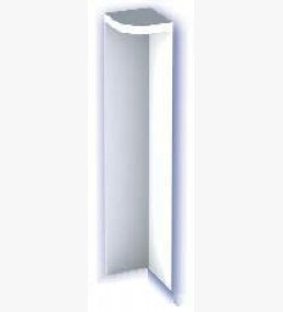 300mm Fascia Corner White