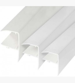 Pvc Glazing Bar F Edge Strip White