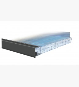 Anthracite Grey PVC End Sheet Closure