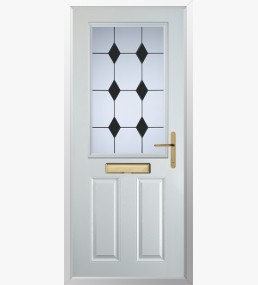Clumber 3 Drop Diamond Black Composite Door
