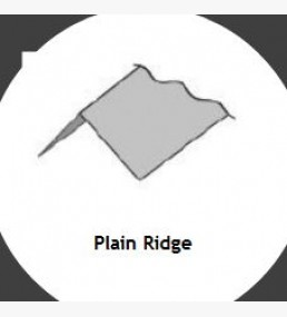 Plain Ridge Flashing - Corrugated - (flashing)