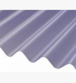 Corrugated Pvc Lightweight Sheet - Clear