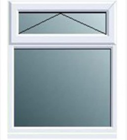 Pvcu Top Overfixed Casement Window