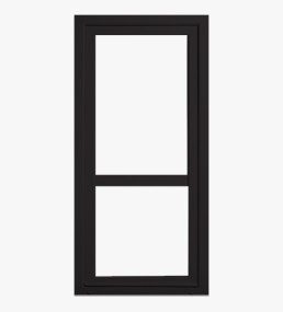 Black Panel And Glass Upvc Doors