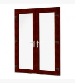 Mahogany UPVC French Doors