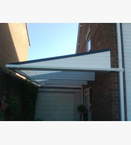 White Cantilever Canopy