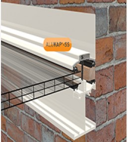 Alukap Self Support Low Profile Wall Bar White