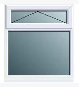 Pvcu Top Overfixed Casement Obscure Window
