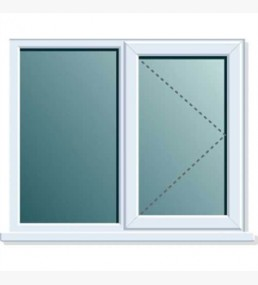 Pvcu Side Fixed Right Hand Casement Window