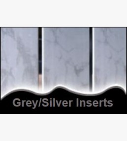 Grey cladding silver inserts for Velux cladding kit