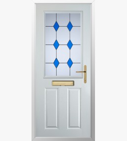 Clumber 3 Drop Diamond Blue Composite Door