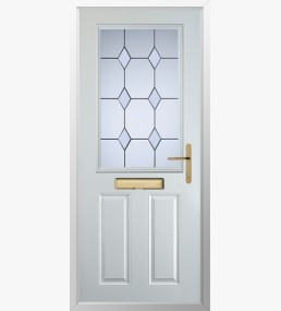 Clumber 3 Drop Diamond Clear Composite Door