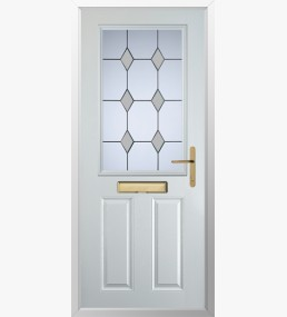 Clumber 3 Drop Diamond Grey Composite Door