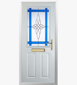 Clumber Crystal Harmony Blue Composite Door