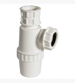 Telescopic Bottle Trap 76mm Seal White