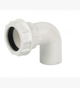 Plain Swivel Elbow White