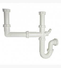 Double Bowl Sink Kit 76mm Seal White