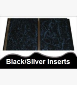 Black cladding silver inserts for Velux cladding kit