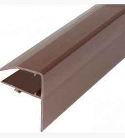 Pvc Glazing Bar F Edge Strip Brown