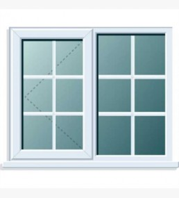 Pvcu Georgian Bar Side/fixed Casement Left Hand Window